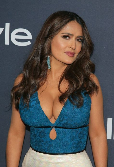 Salma Hayek attends the Annual Warner Bros And InStyle Golden Globe After Party at The Beverly Hilton Hotel on January 05 2020 in Beverly Hills.