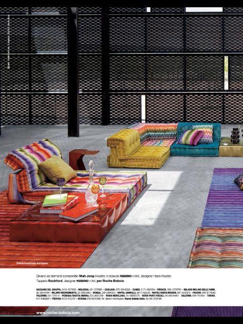Colorful Roche Bobois sections | Home decor, Decor, Home