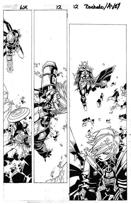 Chris Bachalo & Al Vey - Wolverine & the X-Men #12, page 12 Comic Art