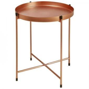 Terrano Table Basse Style Contemporain Metal Cuivre L 41 X L 38 Cm En 2020 Table Basse Table Basse Metal Plateau De Table
