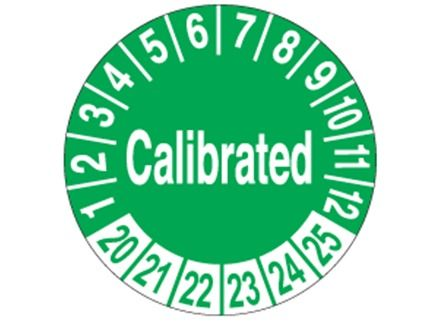 Calibrated Month And Year Label Adhesive Vinyl Tags