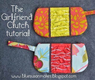 blueSusan makes: Day 12: Girlfriend Clutch Tutorial