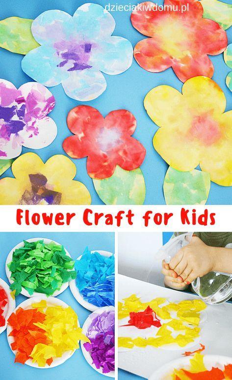 Kwiatki Praca Plastyczna Dla Dzieci Flower Craft For Kids Flower Crafts Crafts For Kids Crafts