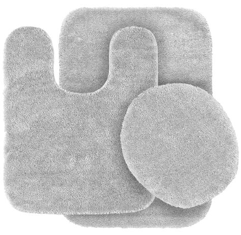 Garland Rug 3-Piece Traditional Nylon Washable Bathroom Rug Bath Mat Set