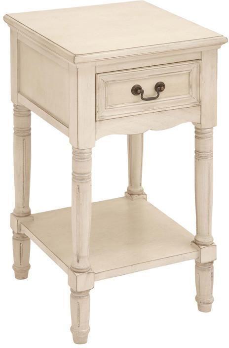 Home Source H 1068 Ns Malia 16 5 16 Inch Wide 2 Drawer Wood Framed