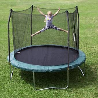 Inground 10 Round Trampoline With Safety Enclosure Backyard Trampoline Outdoor Trampoline Outdoor
