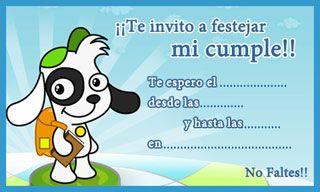 Tarjeta De Cumpleaños De Doki Tarjetas De Invitacion