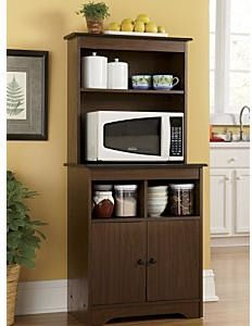 Haley Microwave Stand With Hutch Montgomery Ward