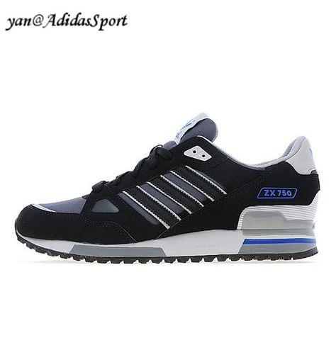quality design b7e60 ec10e ... mujeres en gris Adidas Originals ZX 750 men s running shoes Black Grey  Heather Solid Gray HOT SALE ...