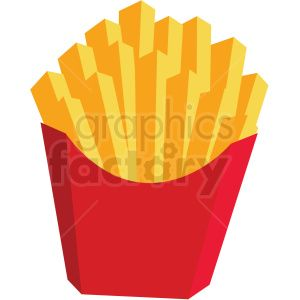 French Fries Vector Flat Icon Clipart With No Background Clip Art Flat Icon French Fries