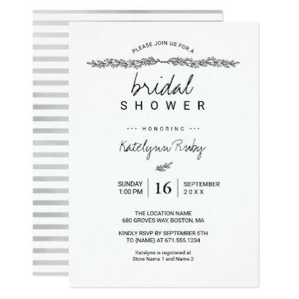 Announcement design in our studio. Simple Elegant Bridal Shower Invitation Zazzle Com Elegant Bridal Shower Bridal Shower Invitations Diy Bridal Shower Invitations