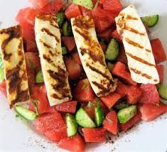 watermeloen kaas salade - Google Search