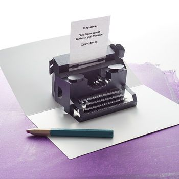 Personalised Typewriter Pop Up Card Cards Pop Up Card Making