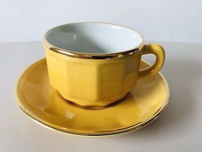 apilco jaune tasse a cafe et soucoupe