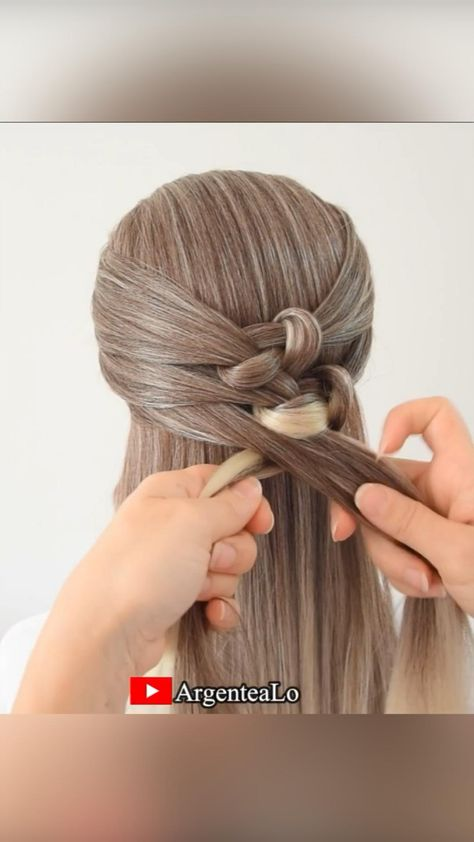 How to create Knotted Braid quickly and easily! 😍