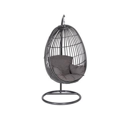 Hangstoel Bruin Egg.Garden Impressions Hangstoel Panama Swing Chair Egg Donker Grijs