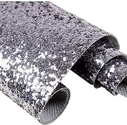 27in By 197in Silver Chunky Glitter Wallpaper 3d Sparkly Glitter Fabric Wall Paper Bling Wallcoveri Silver Glitter Wallpaper Glitter Wallpaper Glitter Fabric
