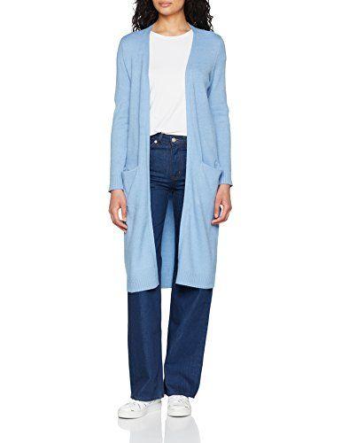 Vila Clothes Damen Strickjacke VIRIL LS Long Knit Cardigan