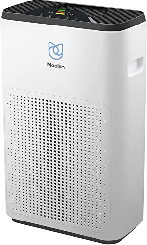 New Moolan Air Purifier Home True Hepa Filter Smokers Pets Hair Cleaner Eliminators Odor Smoke Dust Washable Filter Air Quality Monitor Online In 2020 Air Quality Monitor Hepa Filter Air Purifier