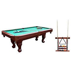 Sportcraft Brookfield 7 5 Ft Billiard Table With Rack And Pool Cue