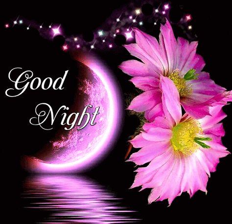 Pink Animated Moon Night Gif night good night good night images good night gifs good night 2019 images