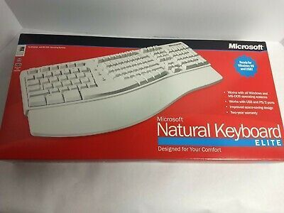Vintage Microsoft Keyboard Elite Windows 98 Ps 2 And Usb In 2020 Computer Keyboard Keyboard Computer