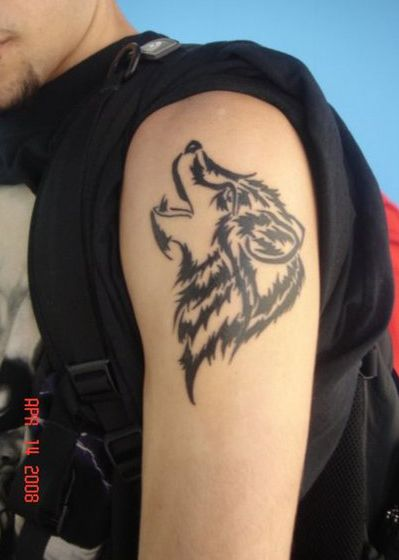 Tattoos In The World Cool Tribal Wolf Animal Tattoo Designs For Guys Wolf Tattoo Design Animal Tattoos Tattoos