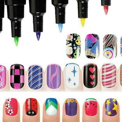 16 Colors Set Nail Art Pen For 3d Nail Art Diy Decoration Polish Nail Set U G7g9 Nail Polish Pens Uv Nails Art Nail Art Diy
