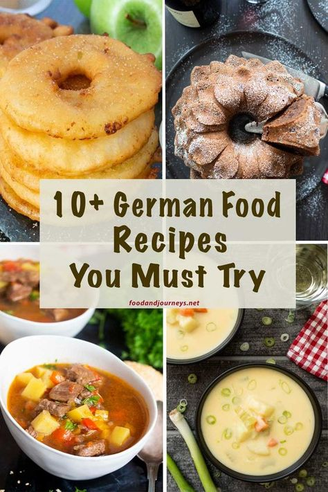 A collection of authentic and not-so-traditional German recipes that you can try at home! A mix of savouries and sweets for you to relish and enjoy! recipe traditional German Food Recipes You Must Try Easy German Recipes, Amish Recipes, Russian Recipes, Cooking Recipes, Healthy Recipes, Dutch Recipes, Steak Recipes, Traditional German Food, Oktoberfest Food