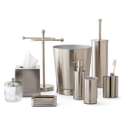 20 Brushed Nickel Bathroom Accessories, Nickel Finish Bathroom Accessories