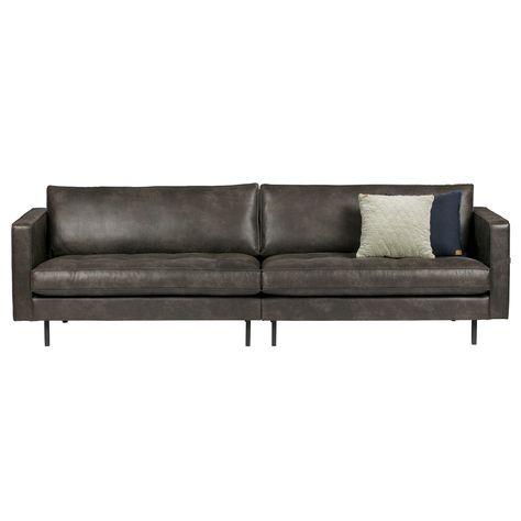 Bepure 3 Sitzer Sofa Rodeo Classic Leder Schwarz In 2020 3 Sitzer Sofa Schwarzes Sofa Und Sofa