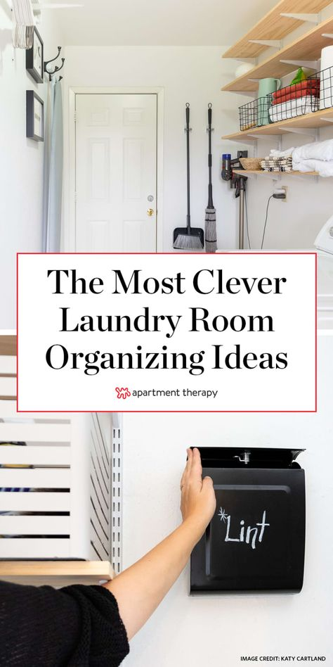 16 Clever Hacks That Will Organize Your Laundry Situation for You 16 Laundry Room Organization Ideas: Hacks, Products & Photos Laundry Storage, Laundry Supplies, Laundry Mud Room, Room Organization, Laundry Room Organization, Room Remodeling, Laundry Hacks, Room Flooring, Storage