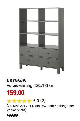 Ikea Freiburg Bryggja Aufbewahrung Dunkelgrau 120x173 Cm