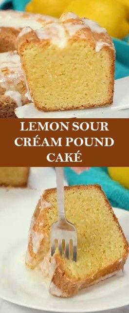 Lemon Sour Cream Pound Cake Lemon Cake Recipes In 2020 Sour Cream Pound Cake Lemon Cake Recipe Cake Recipes