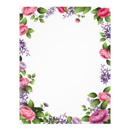Decorative Floral Letterhead Frame Kids Art Decorative Monogram Elegant Frame