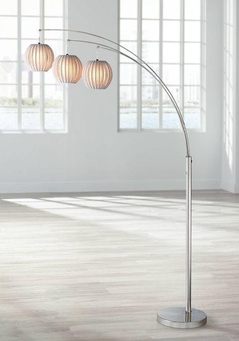 Lite Source Deion 3 Light Hanging Arc Floor Lamp N1912 Pictures