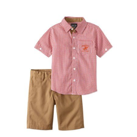 Beverly Hills Polo Club Toddker Boys Shirt /& Shorts Set Size 3T