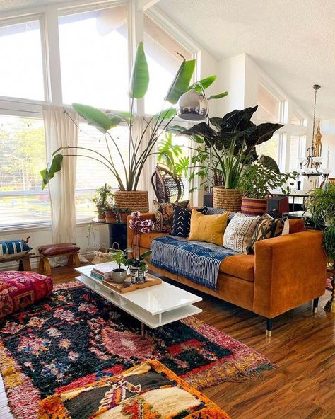 eclectic living room design ideas, boho chic #bohemianlivingroom