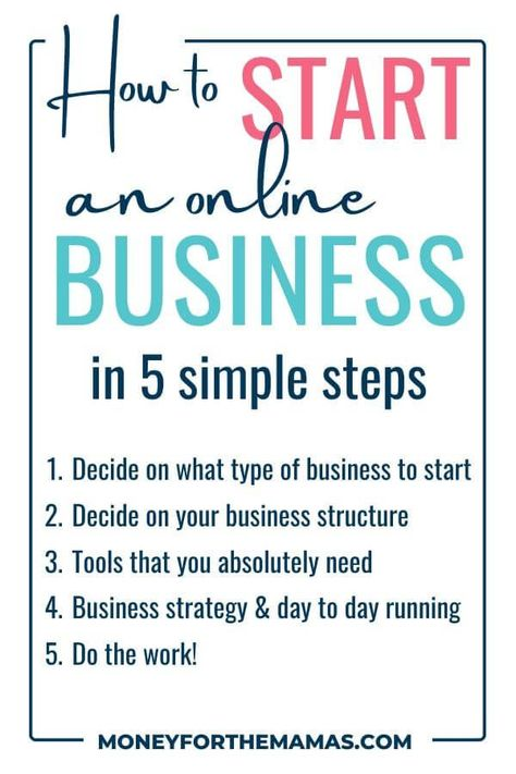 The Simple Steps on How to Start A Business | Money for the Mamas