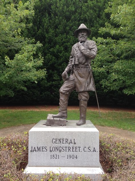 Visiting Lieutenant General James Longstreet sites in Gainesville, Georgia! Confederate Statues, Confederate Monuments, Confederate States Of America, American Civil War, American History, Civil War Art, Southern Heritage, Civil War Photos, Us History