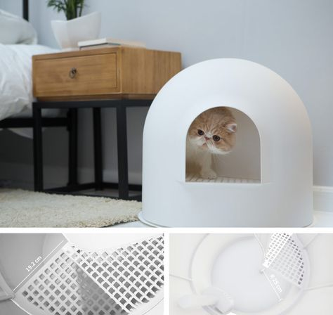 Pidan Igloo Cat Litter Box Cat Litter Box Cat Furniture Cat Toilet
