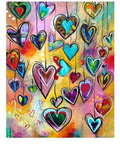 Love Heart Square Diamond P...