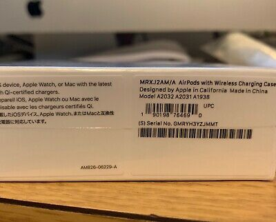 New Genuine Apple Airpods 2nd Generation Wireless Charging Case White Mrxj2am A Ebay Apple Airpods 2 Wireless Wireless Charging Pad