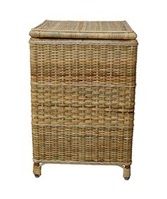 This Traditionally Styled Cane Laundry Basket Combines Elegance