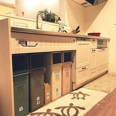 キッチン ゴミ箱スペース の画像検索結果 ゴミ箱 キッチン キッチン 収納 シンク下 ゴミ箱 ゴミ箱 おしゃれ キッチン