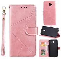 Embossing Geometric Leather Wallet Case For Samsung Galaxy J6 Plus J6 Prime Rose Gold Leather Wallet Case Wallet Case Leather Wallet