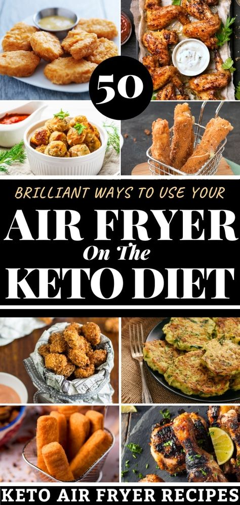 Looking for healthy, low carb keto air fryer recipes? Check out this epic collection of healthy recipes! We're talking easy fried chicken, shrimp, pork chops and fish to wings, fried pickles, and cauliflower! Over 50 keto air fryer recipes to add to your weekly meal plan. Lose weight and enjoy the best comfort food made healthy and fast! #keto #ketorecipes #ketoairfryer #ketodiet #lowcarb #lowcarbrecipes #ketocomfortfood #airfryer #airfryerrecipes #healthyairfryerrecipes #airfried #healthy