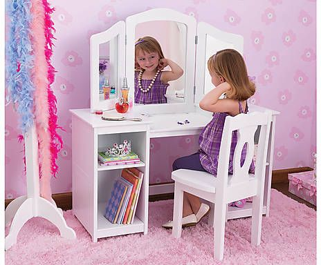 Little Girls Vanity Table And Chair | Table Designs Plans | Pinterest |  Girls Vanity, Vanity Tables And Vanities