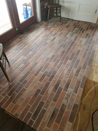 User Submitted Photo Flooring Porcelain Flooring Brick Tile Floor