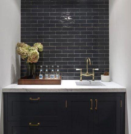New Kitchen Black Backsplash Wet Bars Ideas Black Backsplash Black Kitchens Dark Kitchen Cabinets